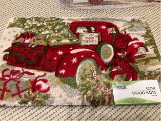 Susan Winget designed Red Truck Door Mat