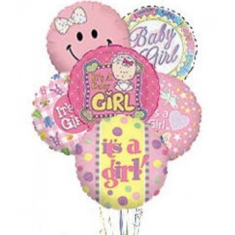 Baby Girl Mylar Balloon Bqt