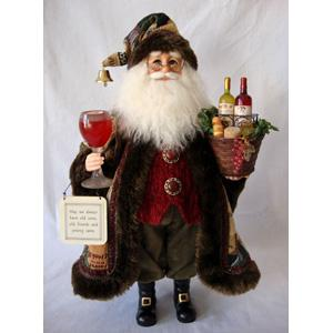 Wine Basket Santa 16