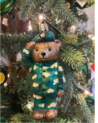 Camo Bear Ornament
