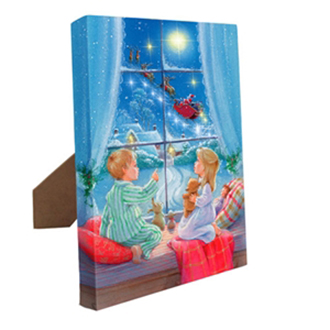 Mr. Christmas Canvas Christmas Magic w/ easel