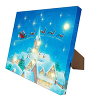 Mr. Christmas Canvas Santas Moonlight w/ easel
