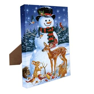Mr. Christmas Canvas Snowman w/ easel