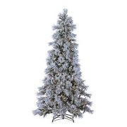 LED Lightly Flocked Snowbell Pine with Twinkling Lights