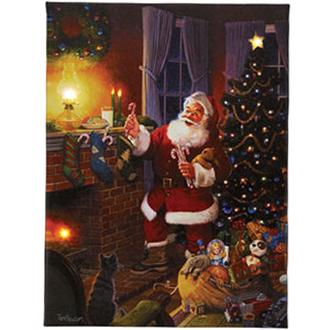 Mr. Christmas Illuminated Santa Art