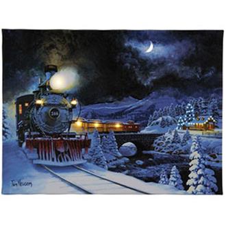 Mr. Christmas Illuminated Train Art