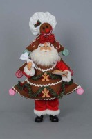 Gingerbread Tree Santa