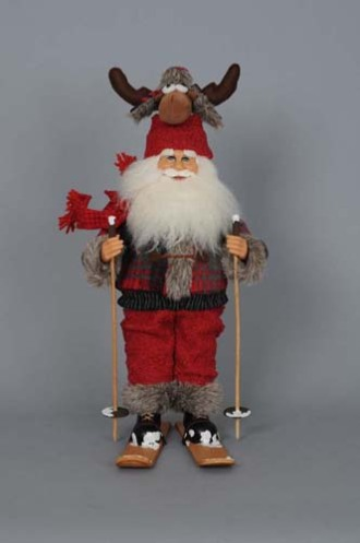 Moose Hat Ski Santa
