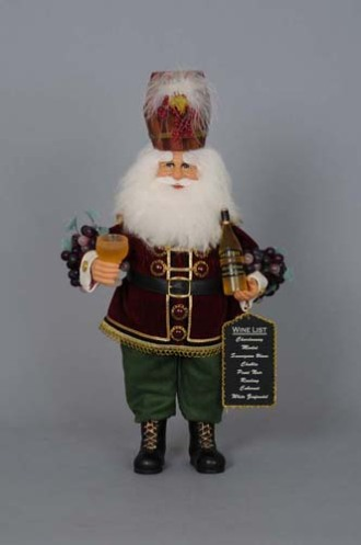 Wine Barrel Santa