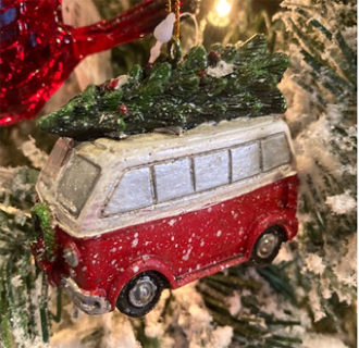 Red Van Ornament