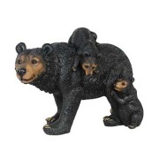 Walking Black Bear with Cubs