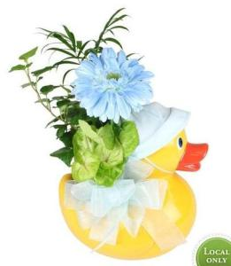 Just Ducky Baby Boy Planter