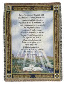 23rd Psalm Tapestry Afghan