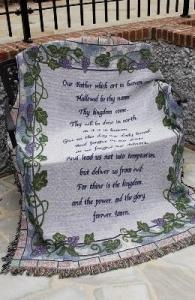 LORDS PRAYER TAPESTRY AFGHAN