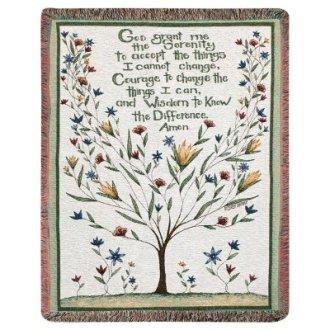 Serenity Prayer Tapestry Afghan