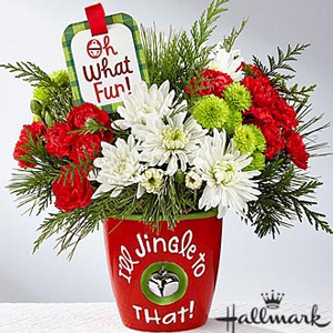 The FTD® I\'ll Jingle to That™ Bouquet by Hallmark