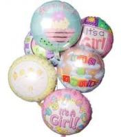Mrs Flowers Baby Girl Balloon Bouquet