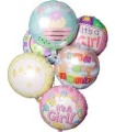 Mrs Flowers Baby Girl Balloon Bouquet