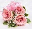 Three Pink Sweetheart Rose Corsage