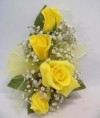 Four Sweetheart Rose Corsage