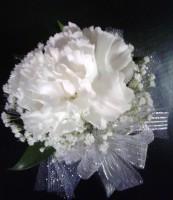 single carnation corsage