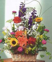 Mrs Flowers Garden Sympathy Basket