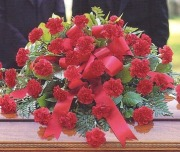Mrs Flowers Carnation Casket Spray