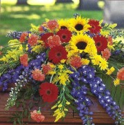 Mrs Flowers Glory Divine Casket Spray