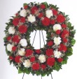Mrs Flowers Red & White Wreath