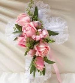 Mrs Flowers Casket Cross