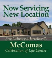NOW SERVICING McComas Celebration of Life Center Jarrettsville