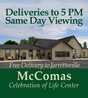 DELIVERIES TO 5 PM McComas Celebration of Life Center Jarrettsville