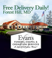 FREE DELIVERY DAILY! Evans Funeral Chapel Forest Hill