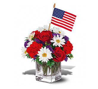 Flowers By Bauers All American Color Cube