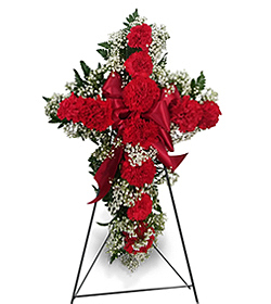 Flowers By Bauers Standing Carnation Cross (Of Many Colors)