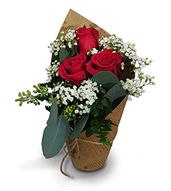 Flowers By Bauers Red Rose Botanical Bouquet
