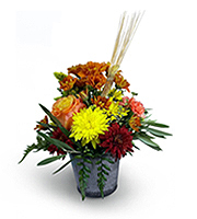 Flowers By Bauers Splash Of Fall Centerpiece