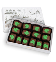 Bomboy's St. Patrick's Chocolate Covered Peanut Butter Candy Half Pound