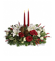 Flowers By Bauers Christmas Wishes Centerpiece DX