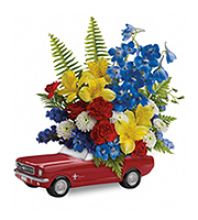Flowers By Bauers '65 Ford Mustang Bouquet