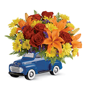 Flowers By Bauers Vintage Ford Pickup Bouquet