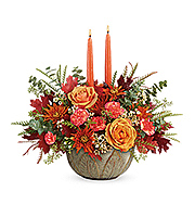 Flowers By Bauers Artisanal Autumn Centerpiece