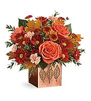 Flowers By Bauers Copper Petals Bouquet