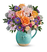 Flowers By Bauers Busy Bee Pitcher Bouquet DX