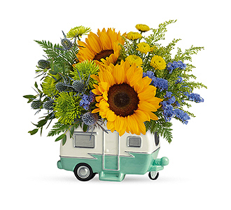 Flowers By Bauers Retro Road Tripper Bouquet