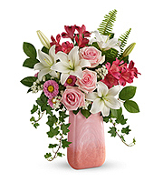 Flowers By Bauers Pink n' Peach Paradise Bouquet
