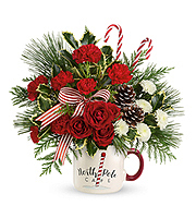 Flowers By Bauers Send a Hug North Pole Cafe Mug