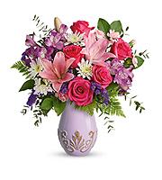 Flowers By Bauers Lavishly Lavender Bouquet DX