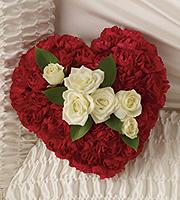 Flowers By Bauers Devoted Heart Casket Insert