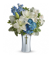 Flowers By Bauers Skies Of Remembrance Bouquet